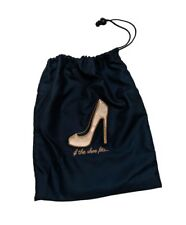 Miamica Navy Embroidered Travel Rose Gold Shoe Bag Organizer Accessories Storage