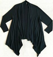 BANANA REPUBLIC LUXESPUN WATERFALL BLACK LIGHTWEIGHT CARDIGAN XL