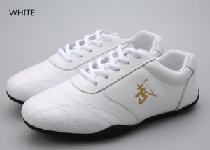 Real leather unisex soft kung fu tai chi shoes martial arts sports shoes