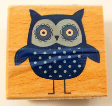 Hoot Owl Hampton Art Studio G Wooden Rubber Stamp