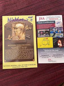 Mike Mussina NY Yankees Baltimore Orioles Hall of Fame Postcard HOF JSA COA