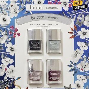 Butter London 4-Piece PATENT SHINE 10X Nail Polish / Lacquer Set - FREE SHIPPING