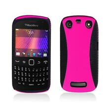 Black TPU Inner Case w/ Hot Pink Case Cover for Blackberry Curve 9350 9360 9370