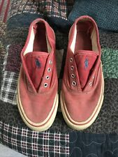 Ralph Lauren Polo Sport Vintage Sneakers Canvas Yarmouth Shoe 7 Navy Red