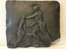 Chasse au cerf d'après l'antique en pierre reconstituée travail anonyme
