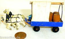 BIRRERIA CARRO faßtransport Kutscher DUE CAVALLO LEGNO Preiser 1:87 H0 GD1