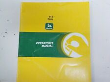 John Deere  115 Disk Owners Operators Manual OM-A48033    Clean