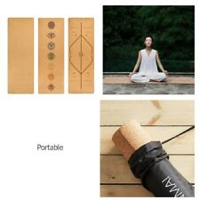 High Quality Yoga Mat Non-Slip Natural Cork TPE Home Exercise Pilates Fitness