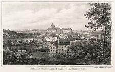 BALLENSTEDT - Schloss Ballenstedt vom Thiergarten - Sydow - Lithografie 1839