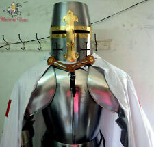 Medieval Wearable Knight Suit Of Armor Crusader Templar Full Body Armour Shield