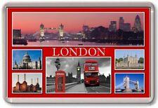 FRIDGE MAGNET - LONDON - Large - TOURIST 6 Red