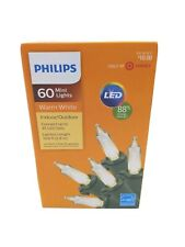 Philips 60 LED Mini String Lights Warm White Indoor/Outdoor Christmas Holiday