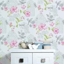 Glitter Vinyl Floral Wallpaper Rolls & Sheets
