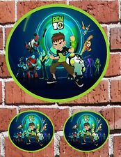 """BEN 10 - 7"""" and 3"""" DECAL STICKERS for HOME, SCHOOL, AUTO, LAPTOP, SKATE"""