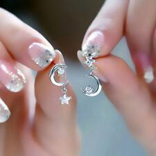Kristall asymmetrische Ohrringe Sternen und Mond Ohrringe für Frauen Geschenk DE