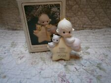 Mib Precious Moments Ornament Babys 1st First Christmas Girl/Star/Kitten 1995