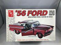 Vtg AMT 56 Ford Fairlane Victoria Hardtop Model Kit #T271 Custom Stock Drag