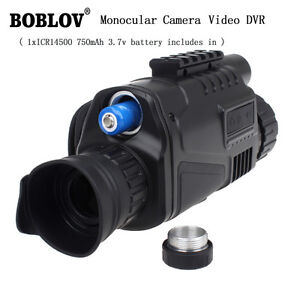 Tactical IR Infrared Night Vision Monocular Scope Camera 200m 5X40 8G Record DVR