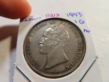D213 German State Saxony 1843 Gulden AU