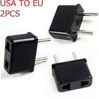 2PCS Usb Socket Converter US To EU Europe Plug Power Adapter Travel Charger