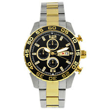 Invicta Specialty Black Dial Chronograph Two-Tone Stainless Steel Mens Watch 101