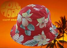 the latest 77dea eb58a New Huf Aloha Aina Red Mens Flowers Floral Bucket Cap Hat