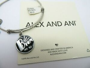 "Alex and Ani ""BEAM ME UP "" Star Trek 2011 Black Epoxy New With Tags HTF"