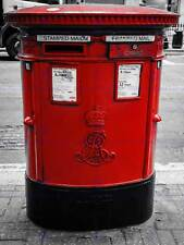 Fotografía composición Eduardiano Post Box Rojo Londres Reino Unido Impresión Cartel MP3375B