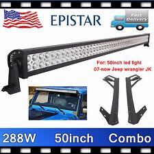 Jeep JK Wrangler Bracket For 288W 50INCH LED Light Bar Offroad Truck Steel PRETT