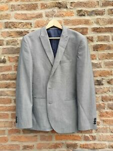 🚘🚘 NEXT Light Grey Slim Fit Single Breasted Blazer 44R