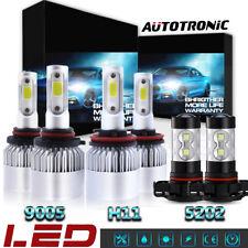 9005 + H11 + 5202 H16 LED Headlight Fog Bulbs For GMC Sierra 1500 2500 HD 07-13