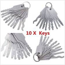Universal 10pcs/set Car Lock out Emergency Kit Unlock Door Open Tool Keys VV