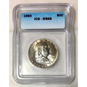 1960 Franklin Half ICG MS65 *Rev Tye's* #360927