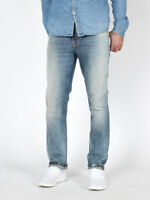 Nudie Herren Slim Fit Organic Denim Jeans Hose | Grim Tim Cloudy Pale