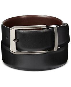Perry Ellis Mens Portfolio Leather Mr. Pebble Reversible Belt 38
