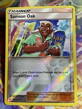 Pokemon Card TCG Samson Oak Reverse HOLO Unbroken Bonds