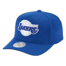 Los Angeles Lakers Mitchell & Ness NBA Royal Crown 110 Curve Snapback Hat - Blue