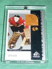 2001-02 SP Game Used TONY ESPOSITO Tools of the Game Leg Pad 100/100 * Last 1/1
