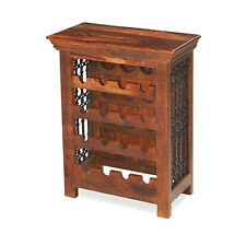 Jali Sheesham Wine Rack Living Dining Room Kitchen Solid Wood Indian Furniture