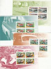 Stamps Australia 1997 Classic Cars in blocks of 4, MUH from prestige booklet