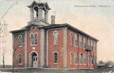 Preston Iowa~High School~Victorian Bell Tower~Fire Escape~1909 Postcard