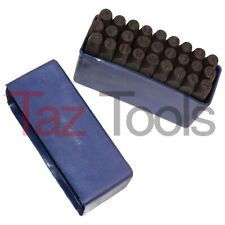"27pc 1/4"" STEEL METAL PUNCH LETTER STAMP STAMPING SET PLASTIC CASE Letter Punch"