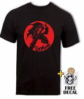 Berserk T-shirt Guts Black Swordsman tee, Unique Cool Anime Gift Mens Black Tee