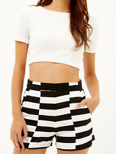 River Island Cream Textured Open Knot Back Crop Top - Size