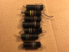 Lot of 7 Vintage Bumble Bee Oil Capacitors .47 uf 200v Guitar Amp PIO Tone Caps