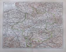 1888 Oesterreich Ob-Unter der Enns 2 alte Landkarten maps Lithografie Österreich