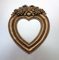 Picture Frames Heart Mini Decor Brown Gold Patina Classic Photo Frame