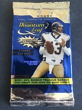 2001 Donruss Quantum Leaf Football HOBBY Pack (Drew Brees Rookie Auto RC)?
