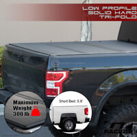 For 2014-2018 Silverado/Sierra 5.8' Low Profile Hard Tri Fold ABS Tonneau Cover