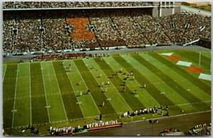 "UNIVERSITY OF ILLINOIS Postcard ""Football at Memorial Stadium"" w/ 1983 Cancel"